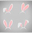 easter bunny ears mask set vector image vector image