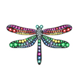 Gem Dragonfly vector image
