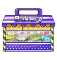 A bakery with lots of goods vector image