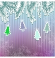 New Years holiday background with tree  EPS8 vector image
