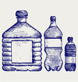 Set of water bottles vector image vector image