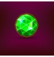 Green gem vector image