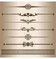 Decorative lines vector image vector image