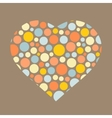 Background with heart Love symbol vector image