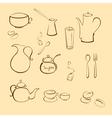 kitchen utensi vector image vector image