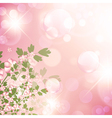 floral bubbly background vector image vector image