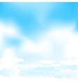 cartoon blue mesh sky vector image vector image
