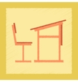 flat shading style icon school desk chair vector image