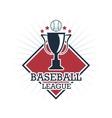 Baseball trophy Sport design graphic vector image