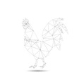 Abstract cock vector image