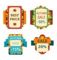 Autumn sale logo vector image