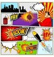 Comics Template Retro Comic Book Speech vector image