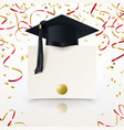 congratulatory background on graduation vector image