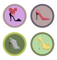 glamorous high-heeled shoes set vector image