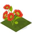 Isometric Tile Flowers vector image