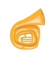 french horn cartoon icon vector image
