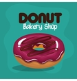 Icon donut glazed pink chocolate graphic vector image