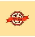 I love pizza icon vector image