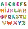 Cute alphabet vector image vector image