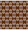 brown damask pattern vector image vector image