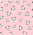 seamless panda bear pattern on pink background vector image