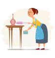 house maid working vector image