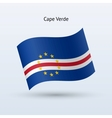 Cape Verde flag waving form vector image