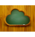 Chalkboard in a shape of a cloud E-learning vector image vector image