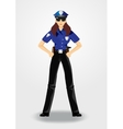 policewoman or cop woman in uniform vector image