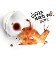 Poster wild coffee snail vector image vector image