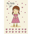 Cute hand-drawn card for birthday or baby shower vector image