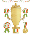 ireland football trophy vector image