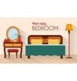 Bedroom with furniture and woman boudoir vector image