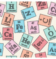 Chemical elements - periodic table - seamless patt vector image