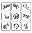 Cogs - Gears Set Isolated on White Background vector image