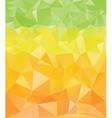 Green Yellow Orange Polygons vector image
