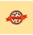I love pizza icon vector image