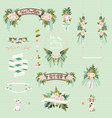 Vintage wedding floral decorative and ornaments vector image