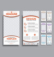 design white flyers size of 210x99 mm vector image