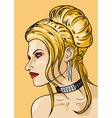 Girl with hairdress in the babetta style vector image