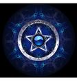 mystic blue star vector image