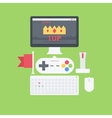 Flat gamer pack vector image vector image