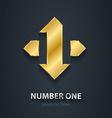 Number 1 First Place Winner Gold design element vector image