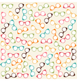 Seamless colorful pattern with glasses vector image vector image