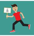 Funny cartoon running guy Boy character vector image