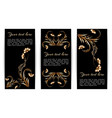 banners with gold foil vector image