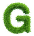 Capital letter g from grass on white vector image