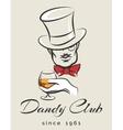 Dandy Club Emblem vector image
