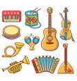 musical instrument ornament cartoon style vector image