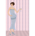 Retro party girl for your design vector image